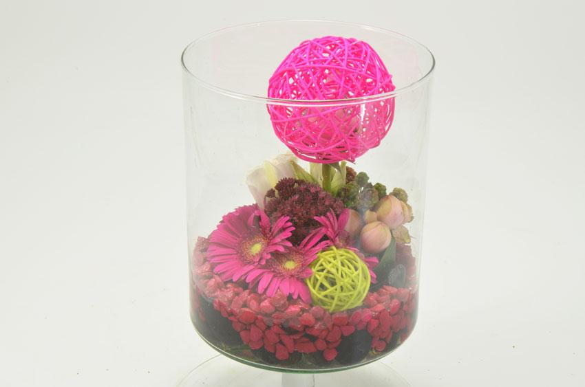 fleuriste-montpellier-juvignac-mini gerbera et tulipe