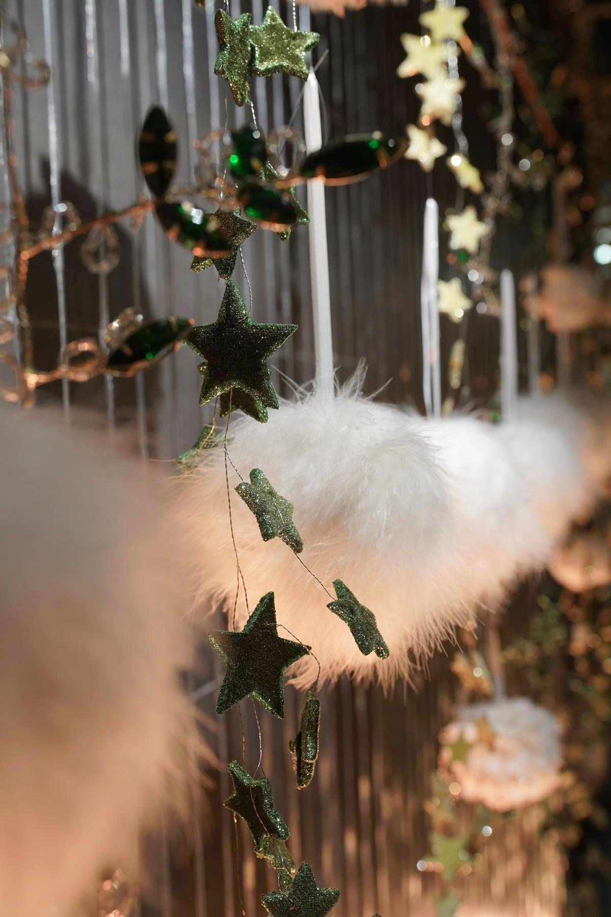 boule à plumes blanches decoration noel 2019 montpellier