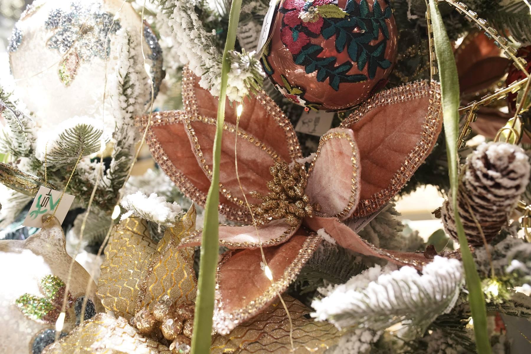 fleur tissu paillettes
